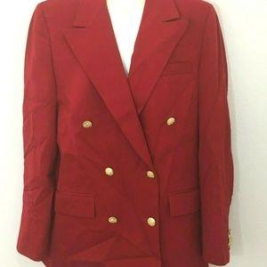 Brooks Brothers Vintage Maroon Blazer Coat Size 4